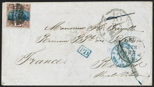 Sale Number 1230, Lot Number 1293, 1861-68 and 1869 Pictorial Issues Covers15c Brown & Blue, Ty. I (118), 15c Brown & Blue, Ty. I (118)