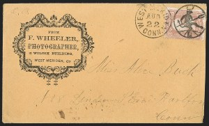 Sale Number 1230, Lot Number 1295, Fancy Cancellations3c Rose (65), 3c Rose (65)