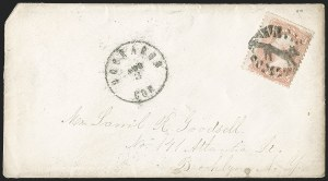 Sale Number 1230, Lot Number 1296, Fancy Cancellations3c Rose (65), 3c Rose (65)