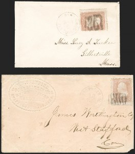 Sale Number 1230, Lot Number 1300, Fancy Cancellations3c Rose (65), 3c Rose (65)