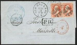 Sale Number 1230, Lot Number 1309, Bank Note and Later Issues Covers7c Vermilion (149), 7c Vermilion (149)