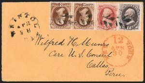 Sale Number 1230, Lot Number 1311, Bank Note and Later Issues Covers12c Dull Violet (151), 12c Dull Violet (151)