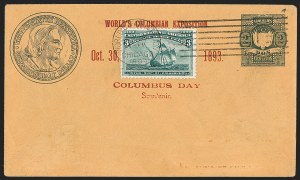 Sale Number 1230, Lot Number 1317, Bank Note and Later Issues Covers1c-8c Columbian (230-236), 1c-8c Columbian (230-236)
