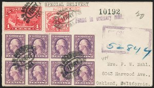 Sale Number 1230, Lot Number 1332, Bank Note and Later Issues Covers3c Violet, Ty. II, Imperforate (484), 3c Violet, Ty. II, Imperforate (484)