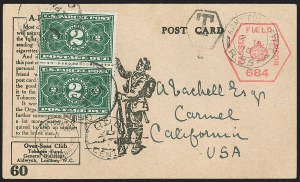 Sale Number 1230, Lot Number 1343, Bank Note and Later Issues Covers2c Dark Green, Parcel Post Postage Due (JQ2), 2c Dark Green, Parcel Post Postage Due (JQ2)