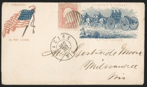 Sale Number 1230, Lot Number 1472, Civil War: Union Patriotics3c Rose (65), 3c Rose (65)