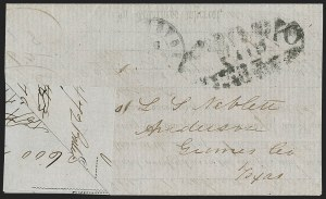 Sale Number 1230, Lot Number 1489, Confederate Postmasters' ProvisionalsGalveston Tex., 10c Black entires (98XU2, 98XU3), Galveston Tex., 10c Black entires (98XU2, 98XU3)