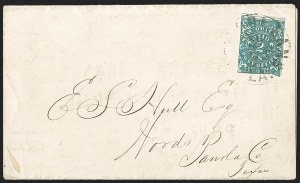 Sale Number 1230, Lot Number 1501, Confederate Postmasters' ProvisionalsNew Orleans La., 2c Blue (62X1), New Orleans La., 2c Blue (62X1)
