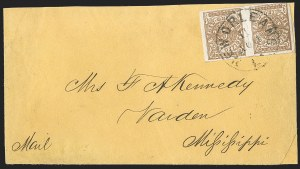 Sale Number 1230, Lot Number 1503, Confederate Postmasters' ProvisionalsNew Orleans La., 5c Ocher (62X3b), New Orleans La., 5c Ocher (62X3b)