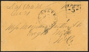 Sale Number 1230, Lot Number 1506, Confederate Postmasters' ProvisionalsStatesville N.C., 5c Black entire (79XU1), Statesville N.C., 5c Black entire (79XU1)