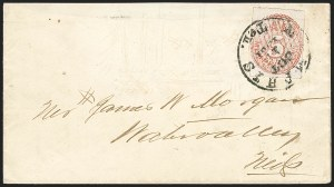 Sale Number 1230, Lot Number 1509, Confederate Postmasters' ProvisionalsPostmasters' Provisionals Cover Balance, Postmasters' Provisionals Cover Balance