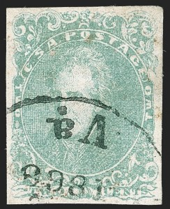 Sale Number 1230, Lot Number 1512, Confederate General Issues and Covers, College Covers2c Green (3), 2c Green (3)