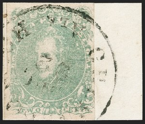 Sale Number 1230, Lot Number 1513, Confederate General Issues and Covers, College Covers2c Green (3), 2c Green (3)