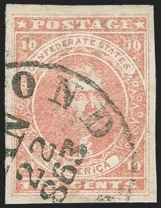 Sale Number 1230, Lot Number 1515, Confederate General Issues and Covers, College Covers10c Rose (5), 10c Rose (5)