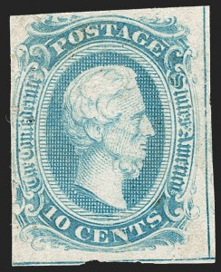 Sale Number 1230, Lot Number 1517, Confederate General Issues and Covers, College Covers10c Blue, Frameline (10), 10c Blue, Frameline (10)