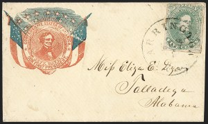 Sale Number 1230, Lot Number 1589, Confederate Patriotic Covers5c Green, Stone 1-2 (1), 5c Green, Stone 1-2 (1)