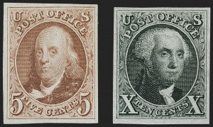 Sale Number 1230, Lot Number 1711, 1875 Reproduction of 1847 Issue (Scott 3-4)5c Red Brown, 10c Black Reproductions (3, 4), 5c Red Brown, 10c Black Reproductions (3, 4)