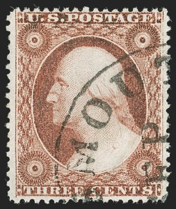 Sale Number 1230, Lot Number 1744, 1857-60 Issue (Scott 18-39)3c Dull Red, Ty. IV (26A), 3c Dull Red, Ty. IV (26A)