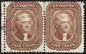 Sale Number 1230, Lot Number 1748, 1857-60 Issue (Scott 18-39)5c Red Brown (28), 5c Red Brown (28)