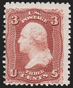 Sale Number 1230, Lot Number 1781, 1861-66 Issue (Scott 56-78)3c Lake (66), 3c Lake (66)