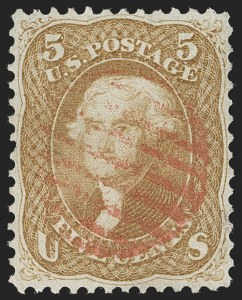Sale Number 1230, Lot Number 1783, 1861-66 Issue (Scott 56-78)5c Brown Yellow (67a), 5c Brown Yellow (67a)