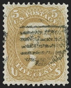 Sale Number 1230, Lot Number 1784, 1861-66 Issue (Scott 56-78)5c Brown Yellow (67a), 5c Brown Yellow (67a)