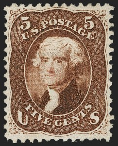 Sale Number 1230, Lot Number 1791, 1861-66 Issue (Scott 56-78)5c Red Brown (75), 5c Red Brown (75)