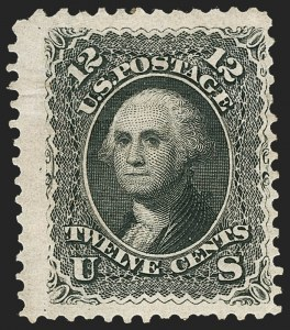 Sale Number 1230, Lot Number 1810, 1867-68 Grilled Issue and 1875 Re-Issue (Scott 79-111)12c Black, Re-Issue (107), 12c Black, Re-Issue (107)