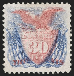 Sale Number 1230, Lot Number 1822, 1869 Pictorial Issue (Scott 112-122)30c Ultramarine & Carmine (121), 30c Ultramarine & Carmine (121)