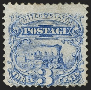 Sale Number 1230, Lot Number 1832, 1875 Re-Issue of 1869 Pictorial Issue (Scott 123-133a)3c Blue, Re-Issue (125), 3c Blue, Re-Issue (125)