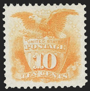 Sale Number 1230, Lot Number 1837, 1875 Re-Issue of 1869 Pictorial Issue (Scott 123-133a)10c Yellow, Re-Issue (127), 10c Yellow, Re-Issue (127)