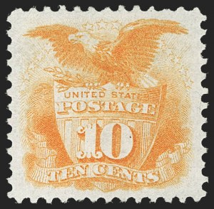 Sale Number 1230, Lot Number 1838, 1875 Re-Issue of 1869 Pictorial Issue (Scott 123-133a)10c Yellow, Re-Issue (127), 10c Yellow, Re-Issue (127)