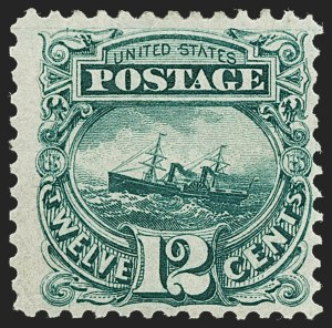 Sale Number 1230, Lot Number 1839, 1875 Re-Issue of 1869 Pictorial Issue (Scott 123-133a)12c Green, Re-Issue (128), 12c Green, Re-Issue (128)