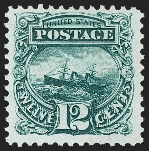 Sale Number 1230, Lot Number 1841, 1875 Re-Issue of 1869 Pictorial Issue (Scott 123-133a)12c Green, Re-Issue (128), 12c Green, Re-Issue (128)