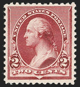 Sale Number 1230, Lot Number 1879, 1890-93 Issue (Scott 219-229)2c Lake (219D), 2c Lake (219D)