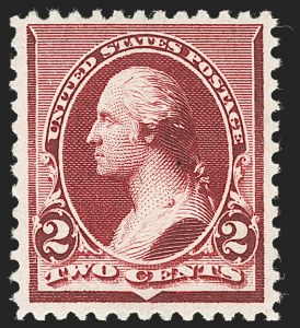 Sale Number 1230, Lot Number 1880, 1890-93 Issue (Scott 219-229)2c Lake (219D), 2c Lake (219D)