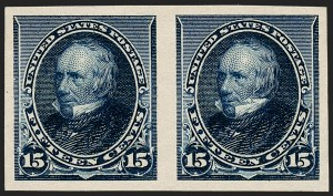 Sale Number 1230, Lot Number 1882, 1890-93 Issue (Scott 219-229)15c Indigo, Imperforate (227a), 15c Indigo, Imperforate (227a)