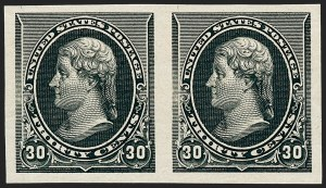 Sale Number 1230, Lot Number 1883, 1890-93 Issue (Scott 219-229)30c Black, Imperforate (228a), 30c Black, Imperforate (228a)