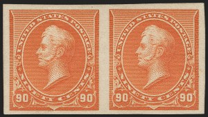 Sale Number 1230, Lot Number 1884, 1890-93 Issue (Scott 219-229)90c Orange, Imperforate (229a), 90c Orange, Imperforate (229a)