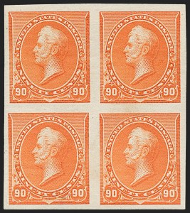 Sale Number 1230, Lot Number 1885, 1890-93 Issue (Scott 219-229)90c Orange, Imperforate (229a), 90c Orange, Imperforate (229a)