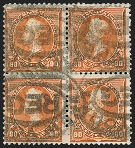 Sale Number 1230, Lot Number 1886, 1890-93 Issue (Scott 219-229)90c Orange (229), 90c Orange (229)