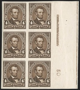 Sale Number 1230, Lot Number 1922, 1894-1903 Bureau Issues (Scott 246-284)4c Dark Brown, Imperforate (254a), 4c Dark Brown, Imperforate (254a)