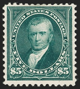 Sale Number 1230, Lot Number 1926, 1894-1903 Bureau Issues (Scott 246-284)$5.00 Dark Green (263), $5.00 Dark Green (263)