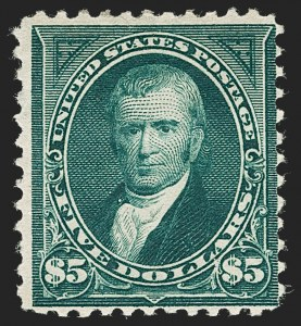 Sale Number 1230, Lot Number 1927, 1894-1903 Bureau Issues (Scott 246-284)$5.00 Dark Green (263), $5.00 Dark Green (263)