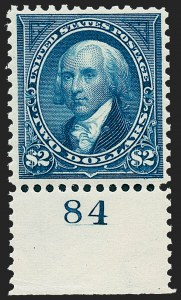 Sale Number 1230, Lot Number 1938, 1894-1903 Bureau Issues (Scott 246-284)$2.00 Bright Blue (277), $2.00 Bright Blue (277)