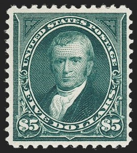 Sale Number 1230, Lot Number 1940, 1894-1903 Bureau Issues (Scott 246-284)$5.00 Dark Green (278), $5.00 Dark Green (278)