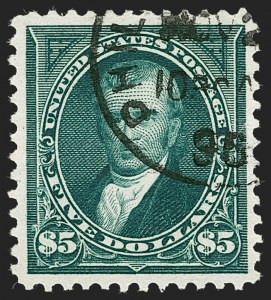 Sale Number 1230, Lot Number 1941, 1894-1903 Bureau Issues (Scott 246-284)$5.00 Dark Green (278), $5.00 Dark Green (278)
