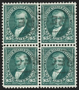 Sale Number 1230, Lot Number 1942, 1894-1903 Bureau Issues (Scott 246-284)$5.00 Dark Green (278), $5.00 Dark Green (278)