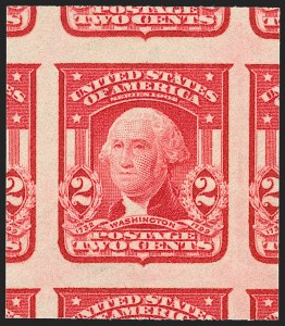 Sale Number 1230, Lot Number 1961, Washington-Franklin and early 20th Century Commeorative Issues2c Carmine, Ty. I, Imperforate (320), 2c Carmine, Ty. I, Imperforate (320)