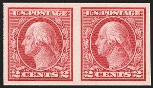 Sale Number 1230, Lot Number 2006, Washington-Franklin and early 20th Century Commeorative Issues2c Carmine, Ty. I, Imperforate Coil (459), 2c Carmine, Ty. I, Imperforate Coil (459)